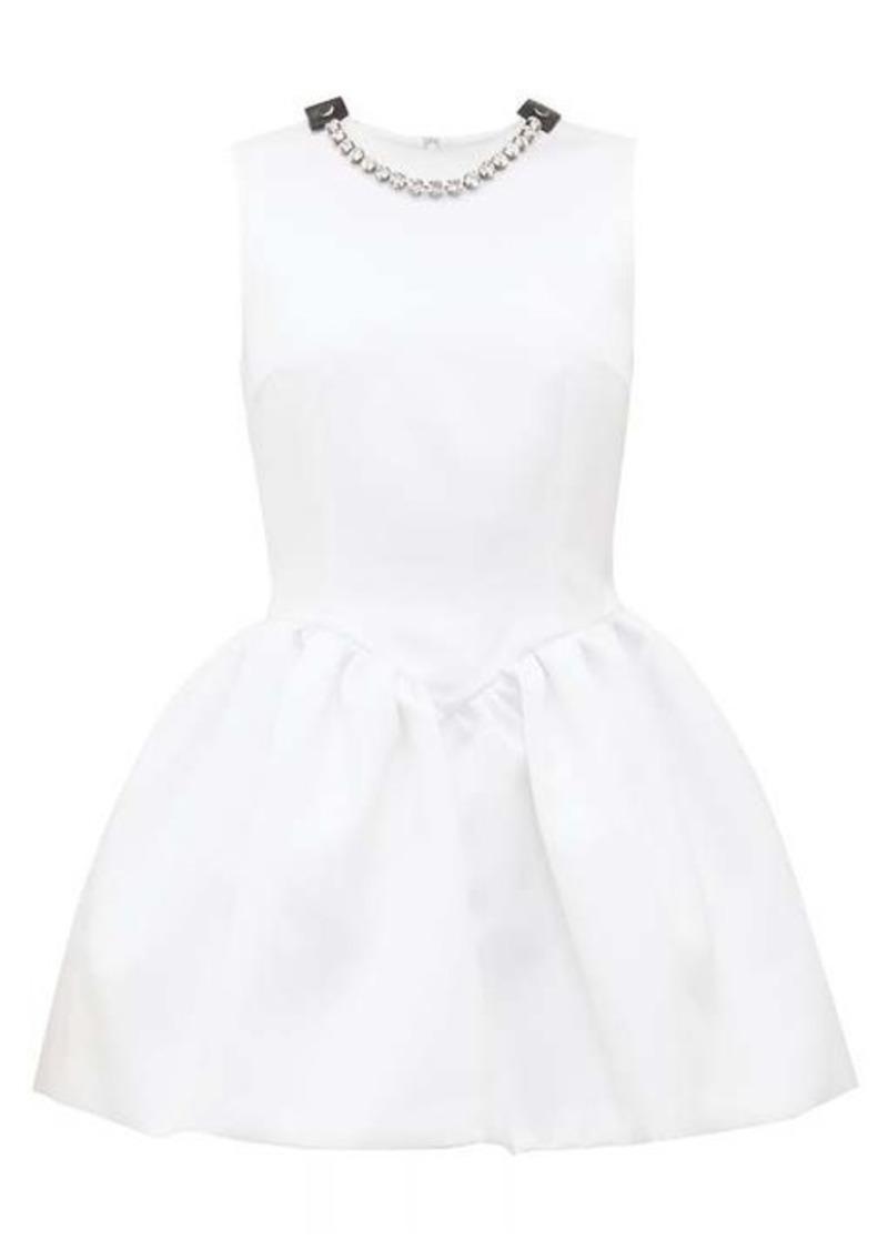 Christopher Kane Crystal-embellished puffed satin mini dress