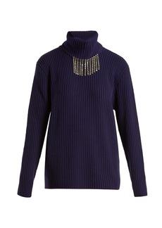 Christopher Kane Crystal-embellished roll-neck sweater