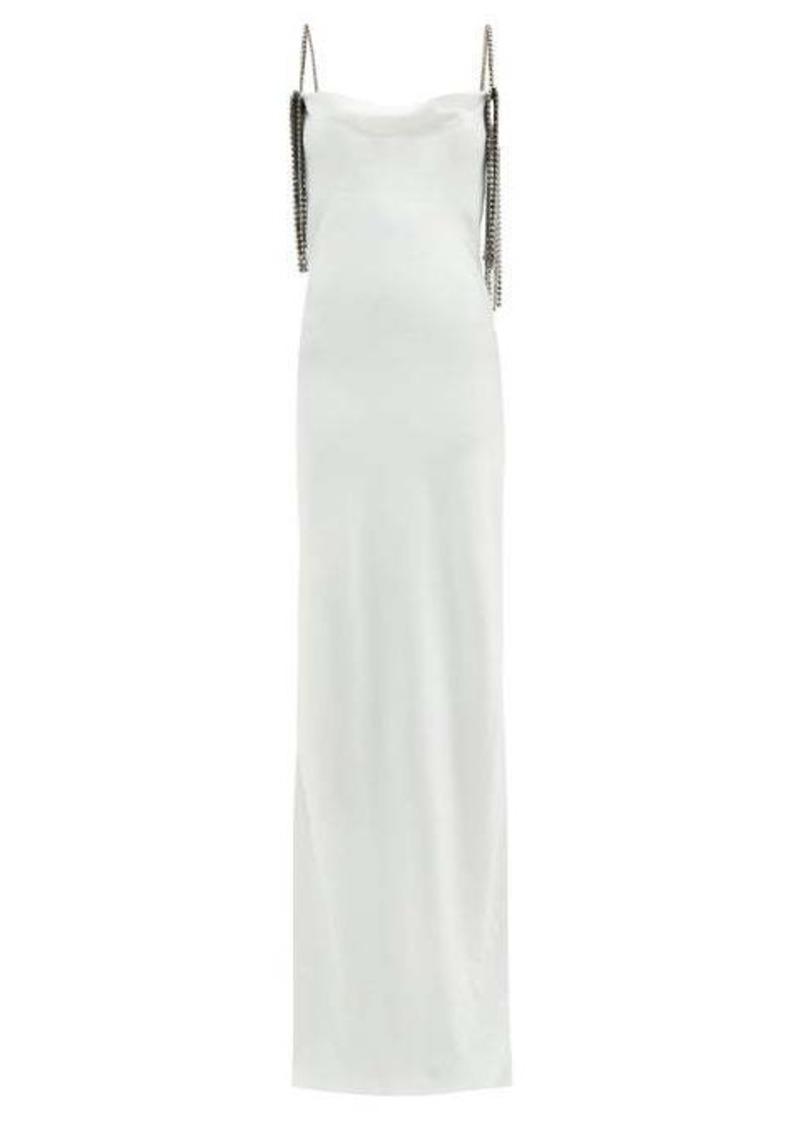 Christopher Kane Crystal-embellished satin gown