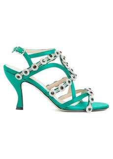 Christopher Kane Crystal-embellished satin sandals