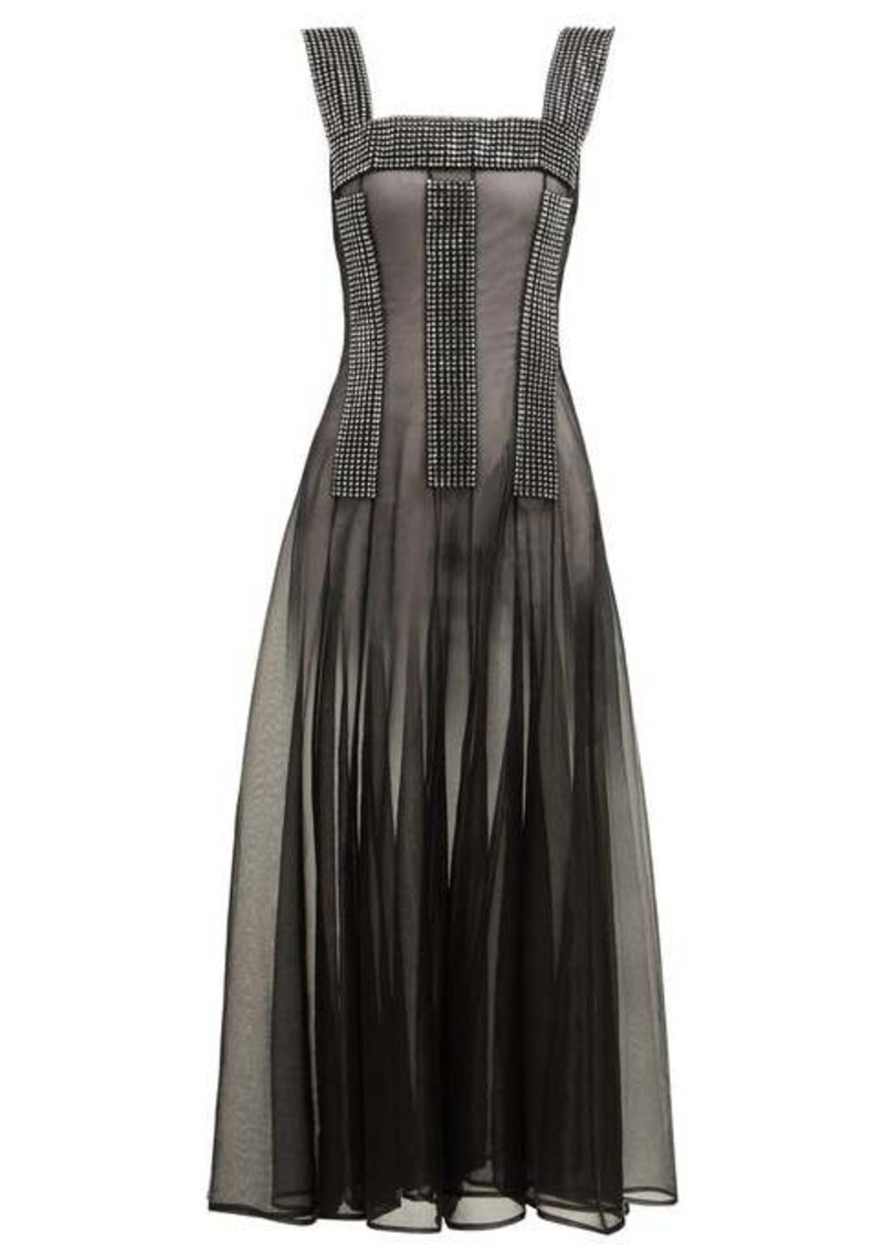 Christopher Kane Crystal-embellished sheer dress