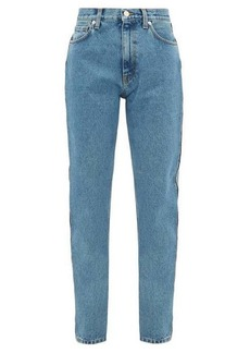 Christopher Kane Crystal-embellished straight-leg jeans