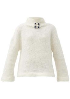 Christopher Kane Crystal-embellished wool-blend sweater