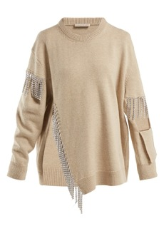 Christopher Kane Crystal-embellished wool sweater