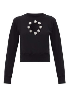 Christopher Kane Crystal organic-cotton jersey sweatshirt