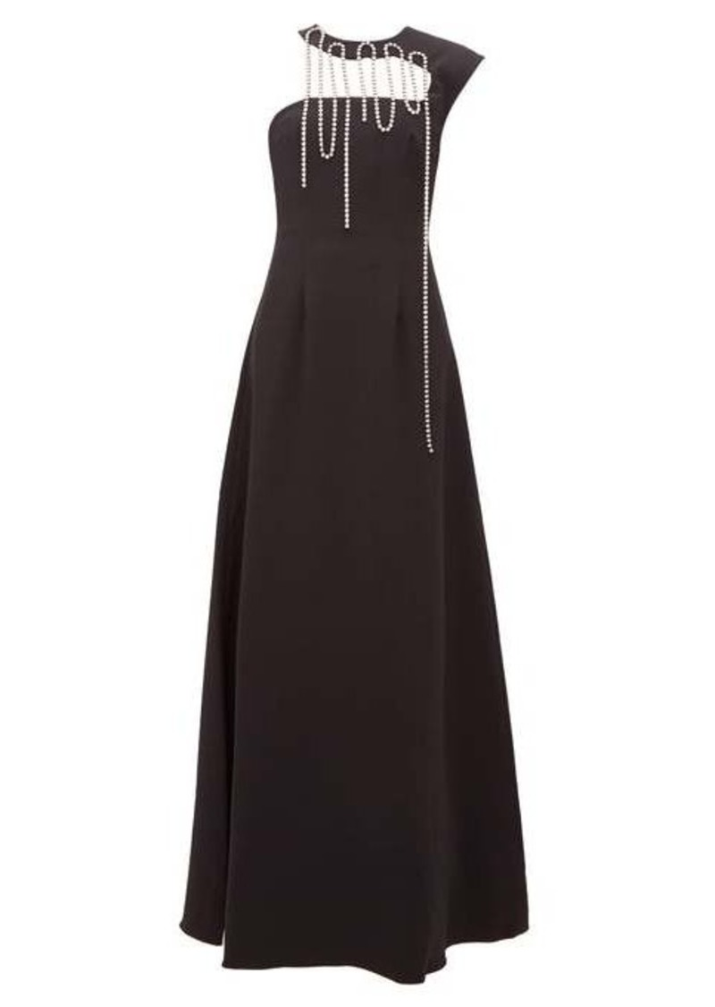 Christopher Kane Crystal-tassel corseted crepe gown