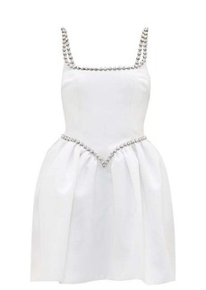 Christopher Kane Cupcake crystal-embellished satin mini dress