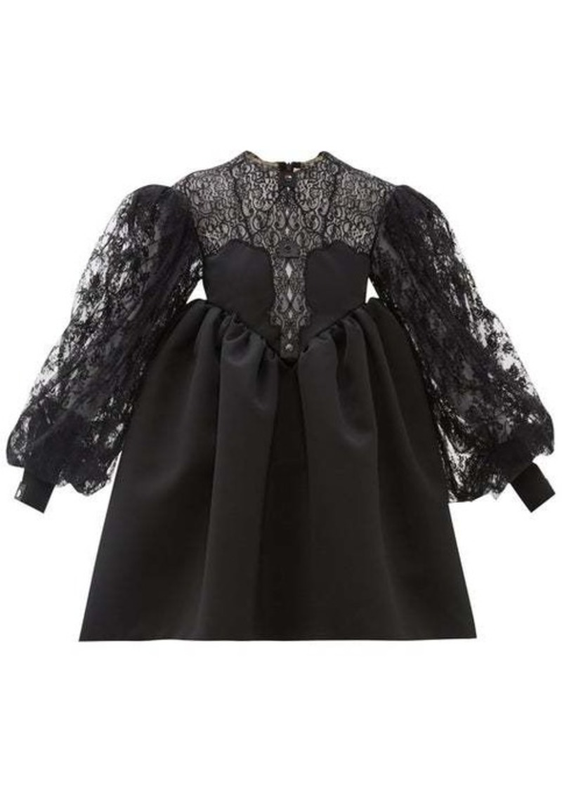 Christopher Kane Cupcake lace and duchess satin dress