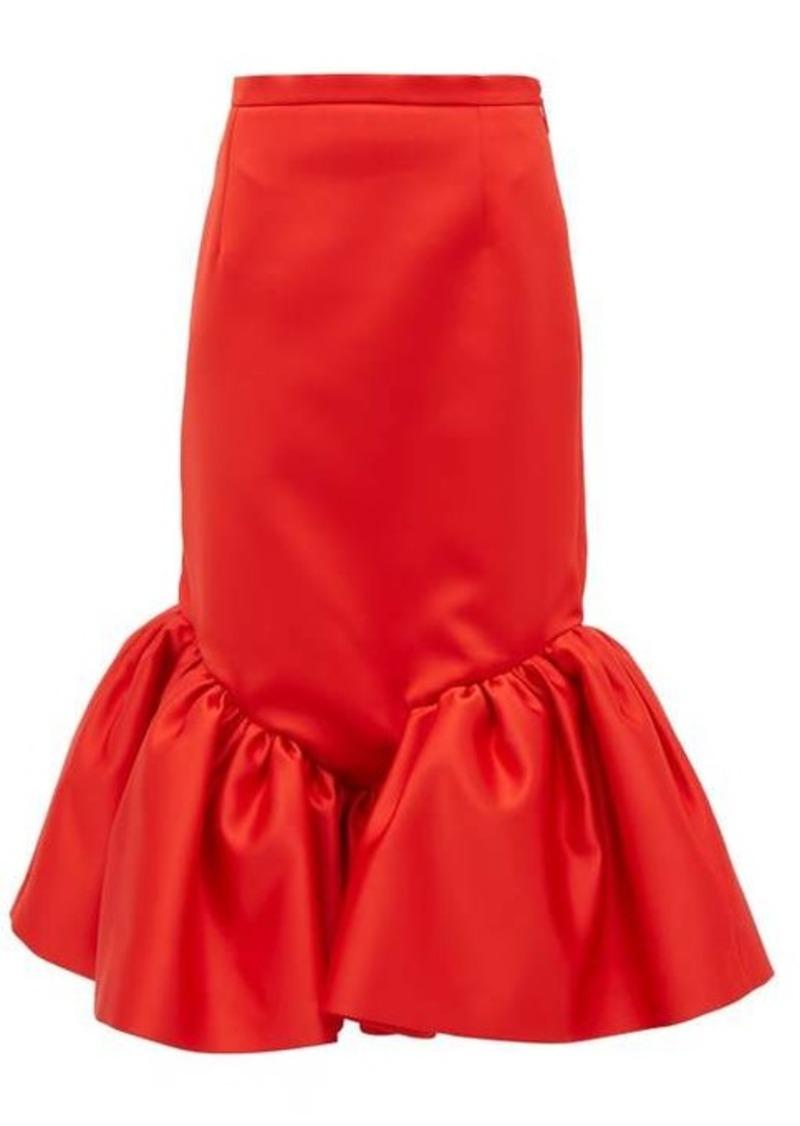 Christopher Kane Cupcake ruffled-hem silk-satin skirt