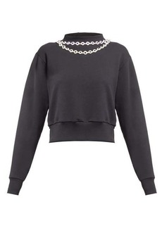 Christopher Kane Daisy chain-embellished top