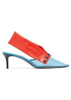 Christopher Kane Detachable-strap PVC kitten-heel mules