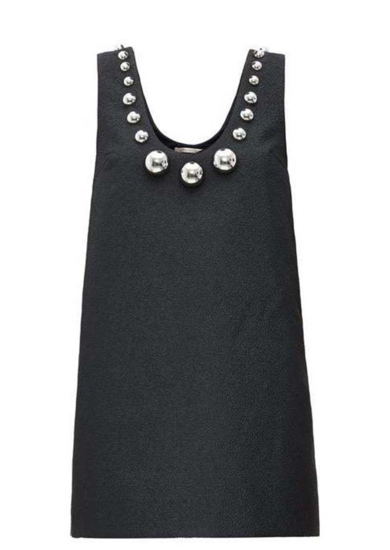 Christopher Kane Dome-embellished cloqué mini dress
