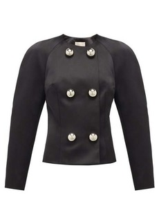 Christopher Kane Dome-embellished satin jacket