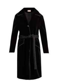 Christopher Kane Dot Dash single-breasted velvet coat
