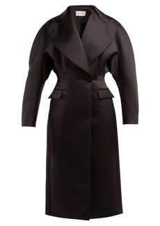 Christopher Kane Double-breasted duchess satin coat