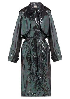 Christopher Kane Double-breasted iridescent-chiffon trench coat