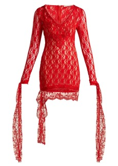 Christopher Kane Draped lace dress