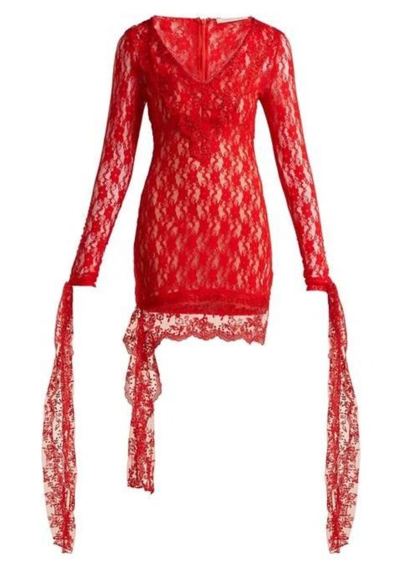 Christopher Kane Draped lace dress