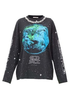 Christopher Kane Ecosexual crystal-embellished sweatshirt