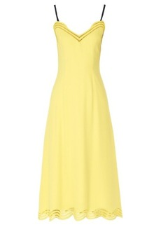 Christopher Kane Embroidered-edge satin dress
