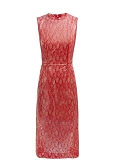 Christopher Kane Floral-lace & PVC midi dress