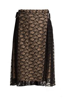 Christopher Kane Floral-lace midi skirt