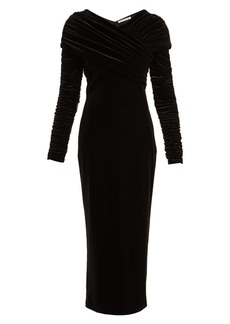Christopher Kane Gathered stretch-velvet dress