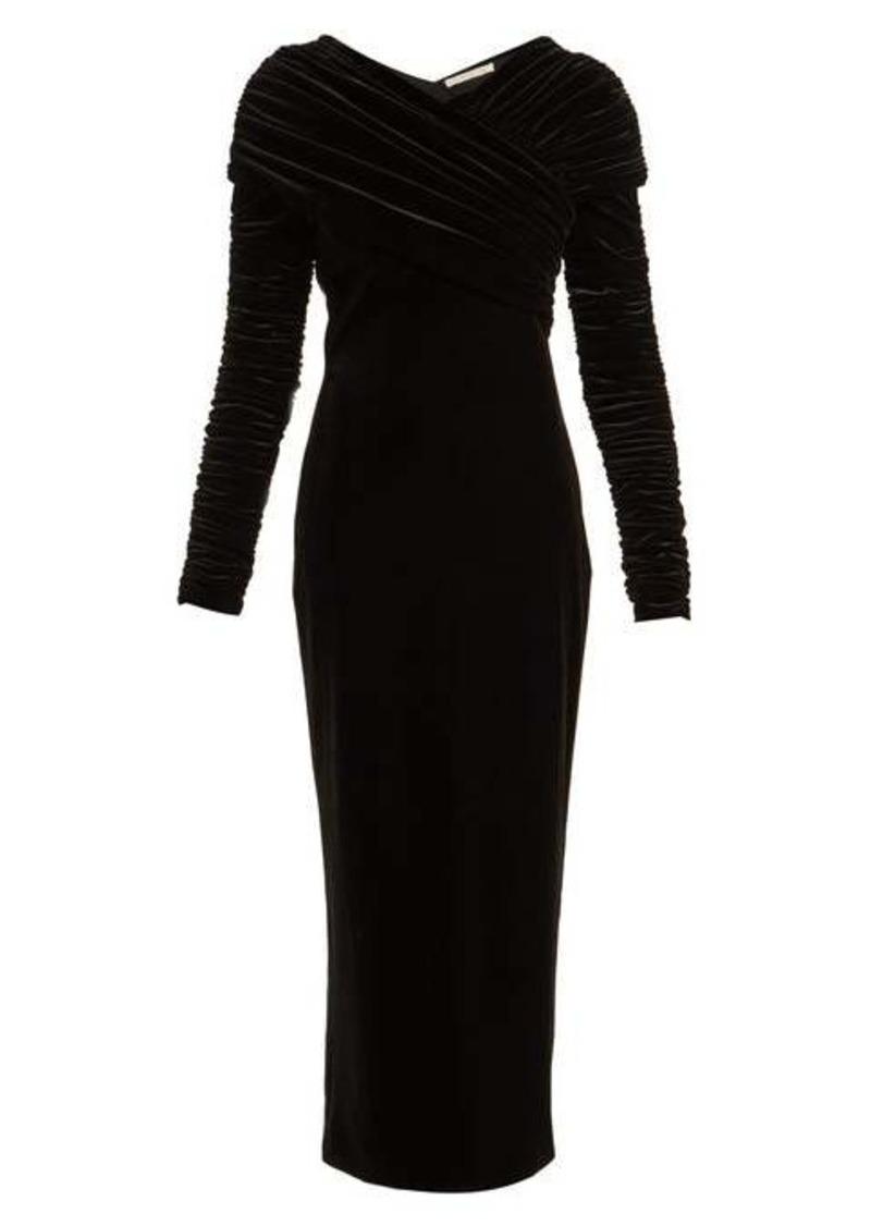 Christopher Kane Gathered stretch-velvet dress