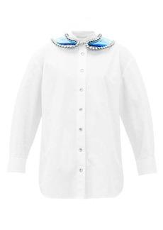 Christopher Kane Gel-filled PVC-panel cotton shirt