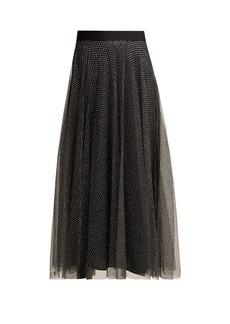 Christopher Kane High-rise metallic-tulle skirt