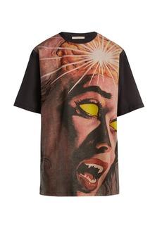 Christopher Kane Horror printed cotton T-shirt