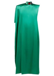 Christopher Kane Jewel-embellished satin kaftan gown