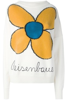 Christopher Kane knitted flower jumper - White