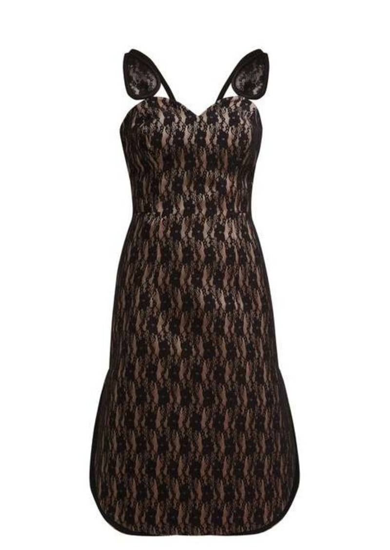 Christopher Kane Lace-bonded satin dress