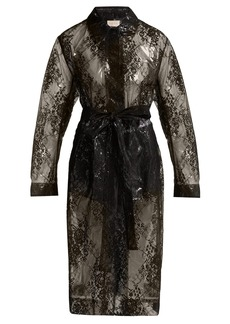 Christopher Kane Lace PVC coat