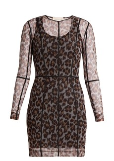 Christopher Kane Leopard-print mesh dress