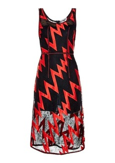 Christopher Kane Lightning-bolt lace midi dress