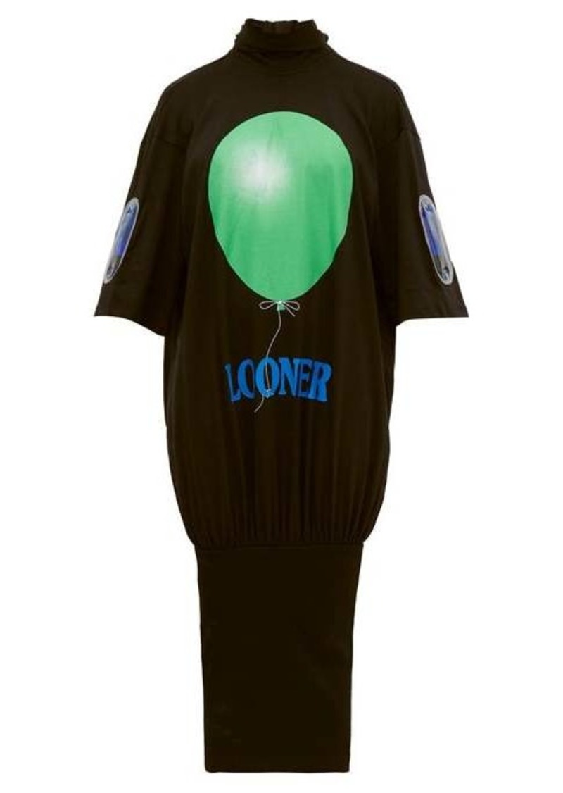 Christopher Kane Looner balloon-print cotton dress