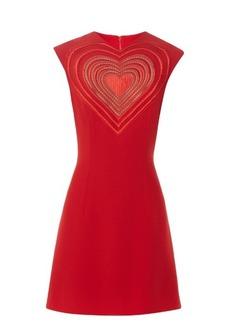 Christopher Kane Love Heart crepe mini dress