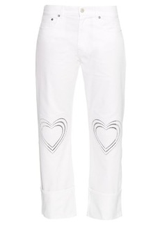 Christopher Kane Love Hearts boyfriend jeans