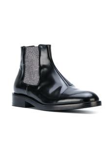 Christopher Kane metallic elastic chelsea boot