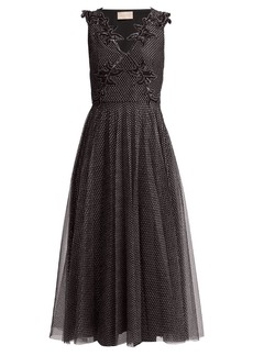 Christopher Kane Metallic tulle midi dress