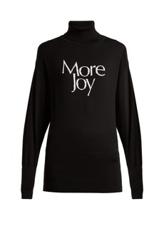 Christopher Kane More Joy-intarsia wool roll-neck sweater