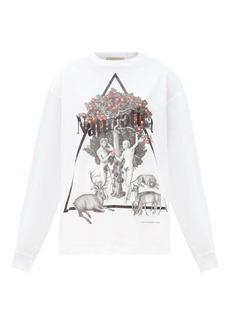 Christopher Kane Naturotica-print long-sleeved cotton T-shirt