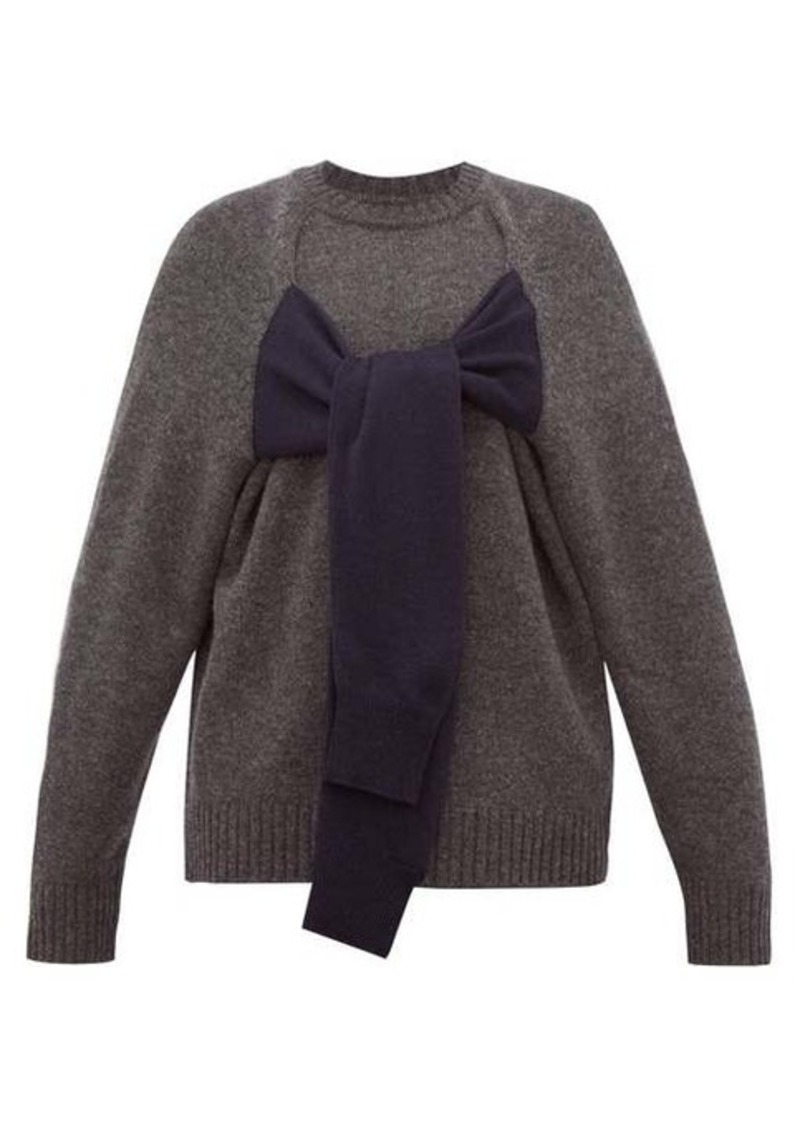 Christopher Kane Octopus crew-neck wool sweater
