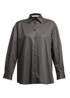 Christopher Kane Oversized crystal-embellished shirt