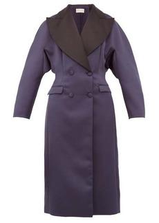 Christopher Kane Oversized double-breasted satin coat