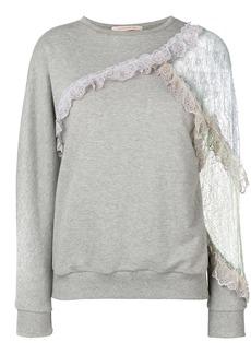 Christopher Kane patchwork lace sweatshirt
