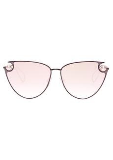 Christopher Kane Pearl-embellished cat-eye sunglasses