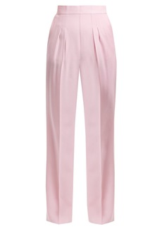 Christopher Kane Pleat-detail wool-crepe trousers